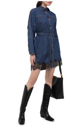 Женское джинсовое платье PHILOSOPHY DI LORENZO SERAFINI синего цвета, арт. A0435/731 | Фото 2