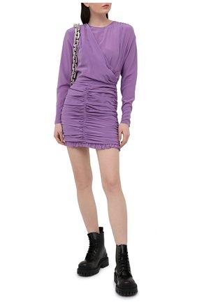 Женское шелковое платье IRO фиолетового цвета, арт. WP33N0NIE | Фото 2