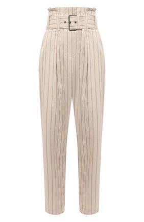 Женские хлопковые брюки BRUNELLO CUCINELLI бежевого цвета, арт. MH511P7659 | Фото 1