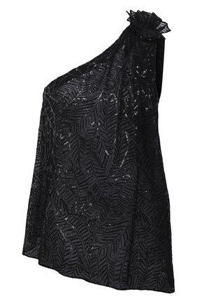 Женский шелковый топ BRUNELLO CUCINELLI черного цвета, арт. MF940DR909 | Фото 1