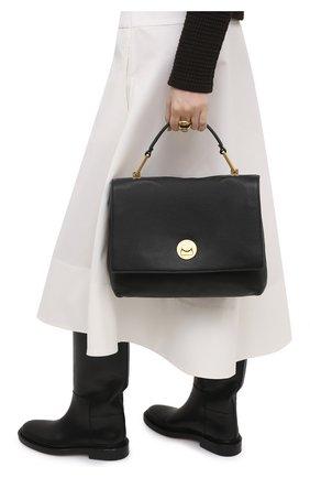 Женская сумка liya COCCINELLE черного цвета, арт. E1 HD0 18 01 01   Фото 2