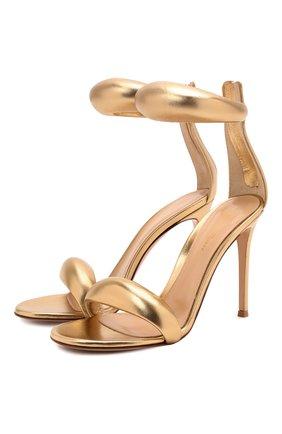 Женские кожаные босоножки california GIANVITO ROSSI золотого цвета, арт. G61635.15RIC.NPSMEK0 | Фото 1