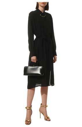 Женские кожаные босоножки california GIANVITO ROSSI золотого цвета, арт. G61635.15RIC.NPSMEK0 | Фото 2