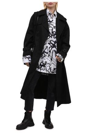 Женские кожаные ботинки DSQUARED2 черного цвета, арт. ABW0128 01503900 | Фото 2
