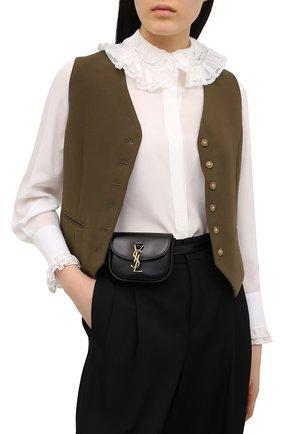 Женская поясная сумка kaia SAINT LAURENT черного цвета, арт. 634922/0IH0W | Фото 2