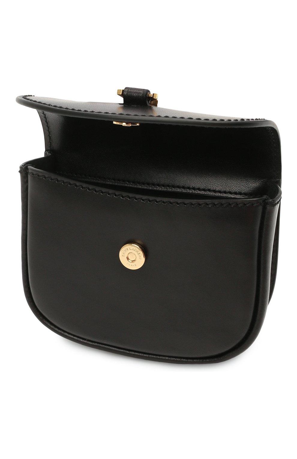 Женская поясная сумка kaia SAINT LAURENT черного цвета, арт. 634922/0IH0W | Фото 4