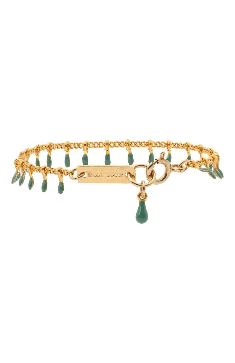 Женский браслет ISABEL MARANT зеленого цвета, арт. BR0371-21P024B | Фото 2