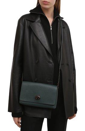 Женская сумка crosstown COACH темно-зеленого цвета, арт. 1494   Фото 2