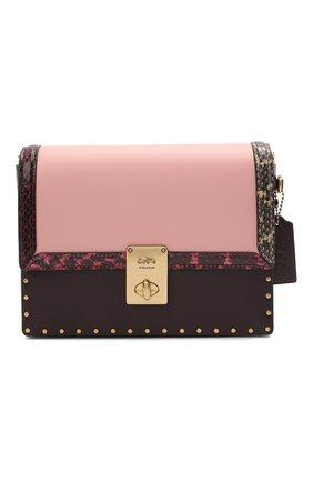 Женская сумка hutton COACH светло-розового цвета, арт. C0805   Фото 1