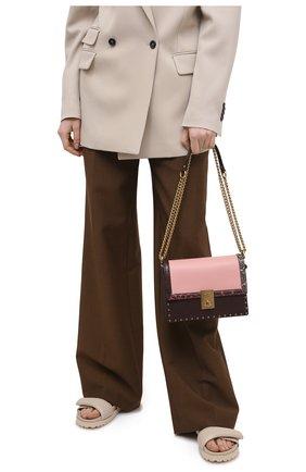 Женская сумка hutton COACH светло-розового цвета, арт. C0805   Фото 2
