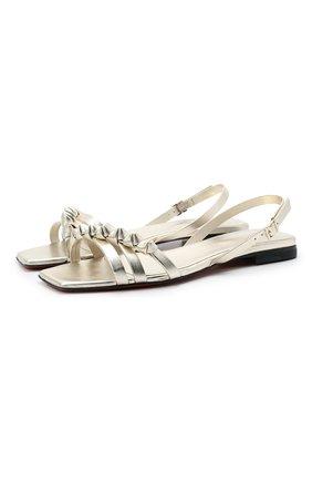 Женские кожаные сандалии SANTONI золотого цвета, арт. WH0F59424HA1TPLP035 | Фото 1