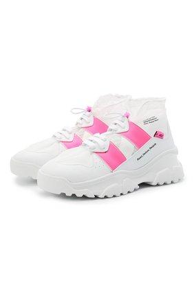 Женские комбинированные кроссовки F_WD белого цвета, арт. FWW36011A/13011 | Фото 1