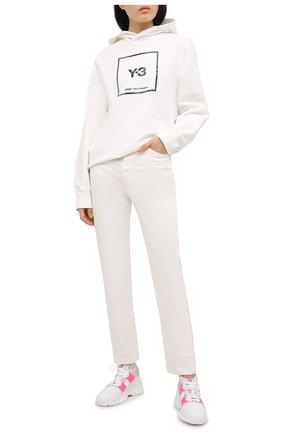 Женские комбинированные кроссовки F_WD белого цвета, арт. FWW36011A/13011 | Фото 2