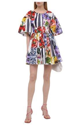 Женское хлопковое платье DOLCE & GABBANA разноцветного цвета, арт. F6L0LT/GDY03 | Фото 2