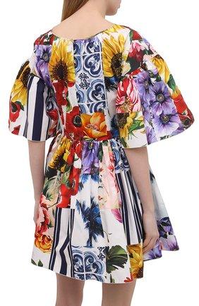 Женское хлопковое платье DOLCE & GABBANA разноцветного цвета, арт. F6L0LT/GDY03 | Фото 4