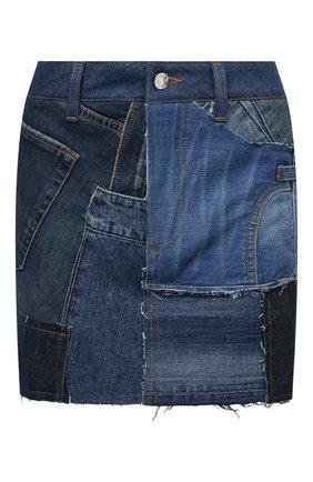 Женская джинсовая юбка DOLCE & GABBANA синего цвета, арт. F4B2RD/GDY73   Фото 1