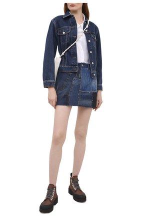 Женская джинсовая юбка DOLCE & GABBANA синего цвета, арт. F4B2RD/GDY73   Фото 2