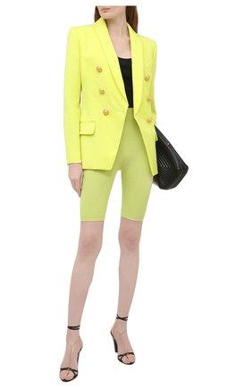 Женский шерстяной жакет BALMAIN зеленого цвета, арт. VF0SH020/167L | Фото 2