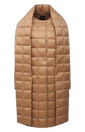 Женское пуховое пальто THEORY бежевого цвета, арт. K1105409 | Фото 1