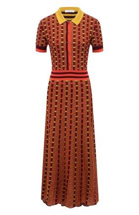 Женское платье из кашемира и шелка GABRIELA HEARST оранжевого цвета, арт. 321920 A003E   Фото 1
