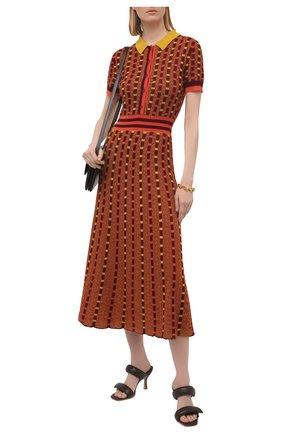Женское платье из кашемира и шелка GABRIELA HEARST оранжевого цвета, арт. 321920 A003E   Фото 2
