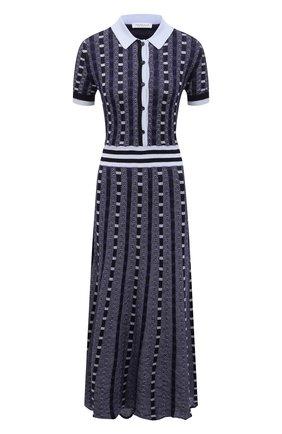 Женское платье из кашемира и шелка GABRIELA HEARST темно-синего цвета, арт. 321920 A003E | Фото 1
