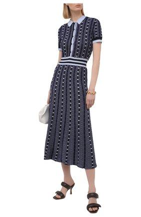 Женское платье из кашемира и шелка GABRIELA HEARST темно-синего цвета, арт. 321920 A003E | Фото 2
