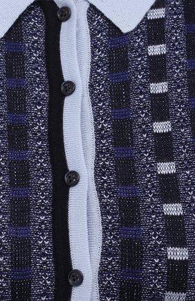 Женское платье из кашемира и шелка GABRIELA HEARST темно-синего цвета, арт. 321920 A003E | Фото 5 (Стили: Ретро; Материал внешний: Шерсть, Шелк, Кашемир; Рукава: Короткие; Случай: Повседневный; Длина Ж (юбки, платья, шорты): Миди; Женское Кросс-КТ: Платье-одежда)