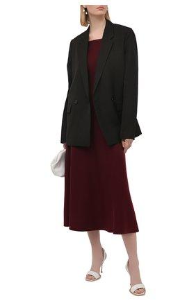 Женское платье из шерсти и шелка GABRIELA HEARST фиолетового цвета, арт. 321916 A002 | Фото 2
