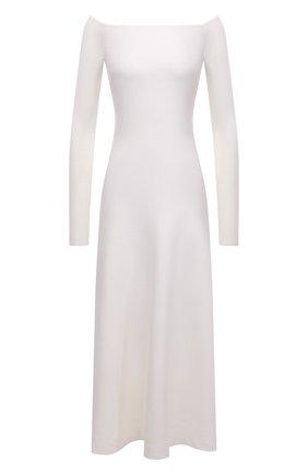 Женское платье из шерсти и шелка GABRIELA HEARST кремвого цвета, арт. 321916 A002 | Фото 1