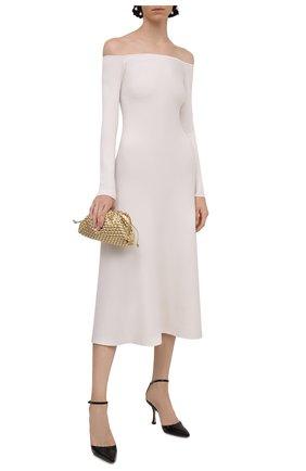 Женское платье из шерсти и шелка GABRIELA HEARST кремвого цвета, арт. 321916 A002 | Фото 2
