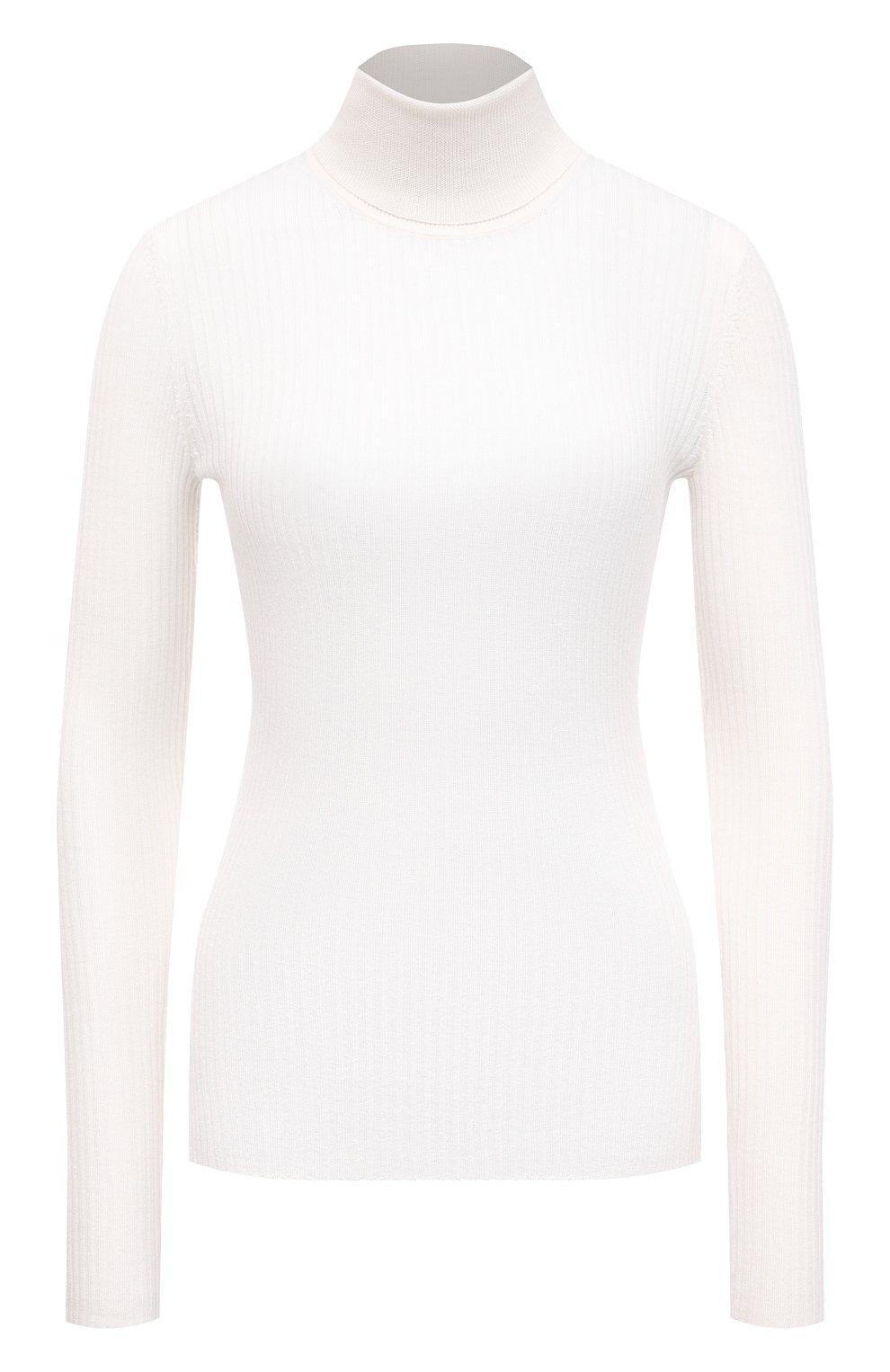 Женская водолазка из кашемира и шелка GABRIELA HEARST белого цвета, арт. 321906 A003C   Фото 1 (Женское Кросс-КТ: Водолазка-одежда; Материал внешний: Шерсть, Шелк, Кашемир; Рукава: Длинные; Длина (для топов): Стандартные; Стили: Кэжуэл)