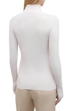 Женская водолазка из кашемира и шелка GABRIELA HEARST белого цвета, арт. 321906 A003C   Фото 4 (Женское Кросс-КТ: Водолазка-одежда; Материал внешний: Шерсть, Шелк, Кашемир; Рукава: Длинные; Длина (для топов): Стандартные; Стили: Кэжуэл)