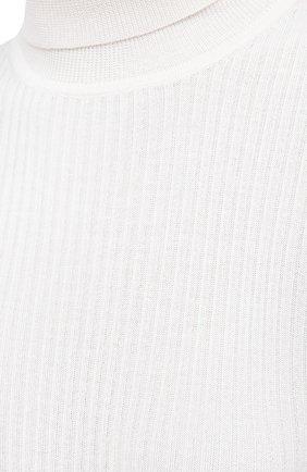 Женская водолазка из кашемира и шелка GABRIELA HEARST белого цвета, арт. 321906 A003C   Фото 5 (Женское Кросс-КТ: Водолазка-одежда; Материал внешний: Шерсть, Шелк, Кашемир; Рукава: Длинные; Длина (для топов): Стандартные; Стили: Кэжуэл)