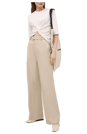 Женская хлопковая футболка AMBUSH белого цвета, арт. BWAA007S21JER001 | Фото 2