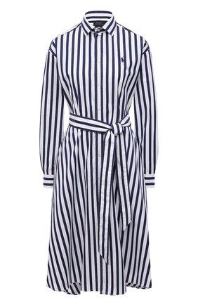 Женское хлопковое платье POLO RALPH LAUREN разноцветного цвета, арт. 211836475   Фото 1