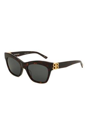 Женские солнцезащитные очки BALENCIAGA коричневого цвета, арт. 648053/T0001 | Фото 1