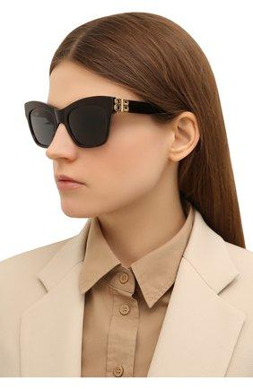 Женские солнцезащитные очки BALENCIAGA коричневого цвета, арт. 648053/T0001 | Фото 2