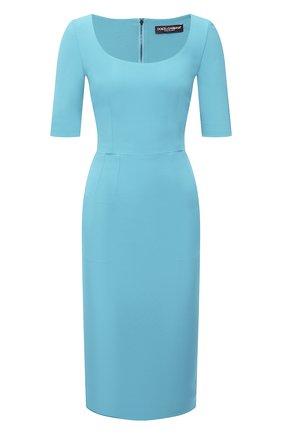 Женское платье DOLCE & GABBANA голубого цвета, арт. F6P0ZT/FURDV | Фото 1
