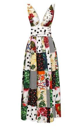 Женское хлопковое платье DOLCE & GABBANA разноцветного цвета, арт. F6K8PT/GDX82 | Фото 1