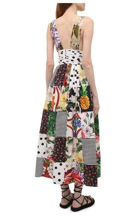 Женское хлопковое платье DOLCE & GABBANA разноцветного цвета, арт. F6K8PT/GDX82   Фото 4