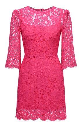 Женское платье DOLCE & GABBANA розового цвета, арт. F6F2GT/HLMHW | Фото 1
