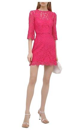 Женское платье DOLCE & GABBANA розового цвета, арт. F6F2GT/HLMHW | Фото 2