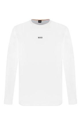 Мужская хлопковый лонгслив BOSS белого цвета, арт. 50427455 | Фото 1