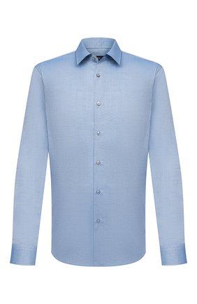 Мужская хлопковая сорочка BOSS синего цвета, арт. 50451819   Фото 1