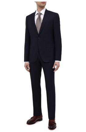 Мужская хлопковая сорочка BOSS белого цвета, арт. 50451322 | Фото 2 (Рукава: Длинные; Материал внешний: Хлопок; Длина (для топов): Стандартные; Случай: Формальный; Принт: Однотонные; Воротник: Кент; Стили: Классический; Рубашки М: Slim Fit; Манжеты: На пуговицах)