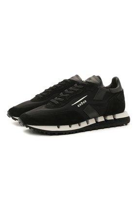 Мужские комбинированные кроссовки GHOUD черного цвета, арт. E11ERTLMWL04 | Фото 1