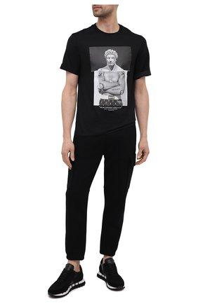 Мужские комбинированные кроссовки GHOUD черного цвета, арт. E11ERTLMWL04 | Фото 2