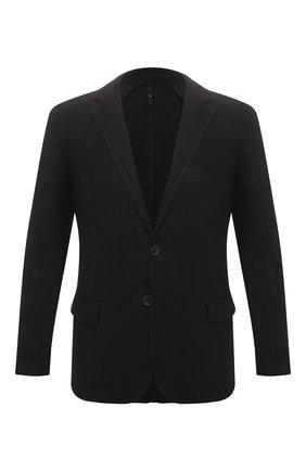 Мужской льняной пиджак 120% LINO черного цвета, арт. T0M8469/0253/000 | Фото 1