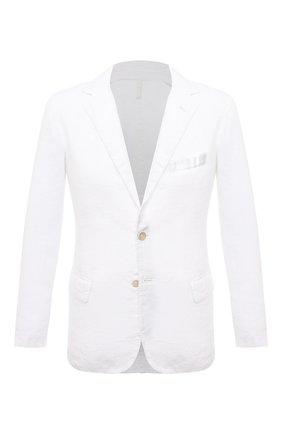 Мужской льняной пиджак 120% LINO белого цвета, арт. T0M8469/0253/000 | Фото 1